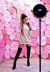 Ariana Grande's wax figure is unveiled at Madame Tussauds, London.