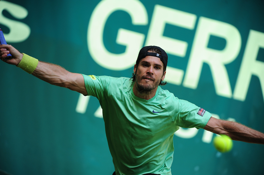Veteran Tommy Haas during the semi final of the Gerry Weber Open 2013 at Gerry Weber Stadium in Halle (Westfalia), Germany on June 15, 2013. Photo: Miroslav Dakov