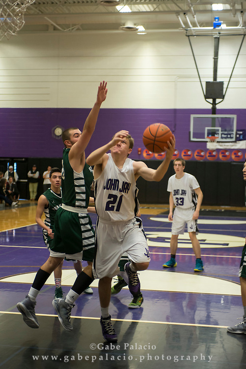 John Jay Varsity Basketball game vs. Yorktown at John Jay High School on January 10, 2015. (photo by Gabe Palacio)