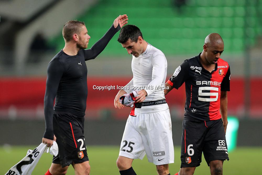 Sylvain ARMAND / Julien FERET  - 25.01.2015 - Rennes / Caen  - 22eme journee de Ligue1<br />Photo : Vincent Michel / Icon Sport