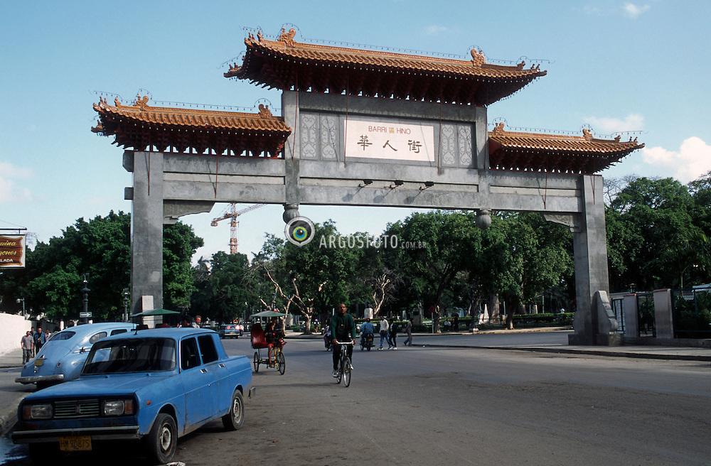 Portal do bairro chines.Havana, Patrimonio da Humanidade. / Entrance to Chinatown  in Havana, humanity patrimony..Foto Marcos Issa/Argosfoto