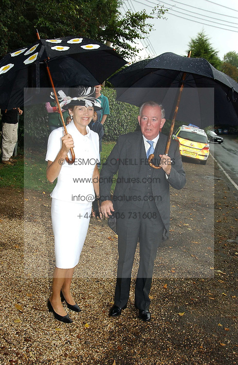 The EARL & COUNTESS OF HALIFAX at the wedding of Tom Parker Bowles to Sara Buys at St.Nicholas Church, Rotherfield Greys, Oxfordshire on 10th September 2005.<br /><br />NON EXCLUSIVE - WORLD RIGHTS