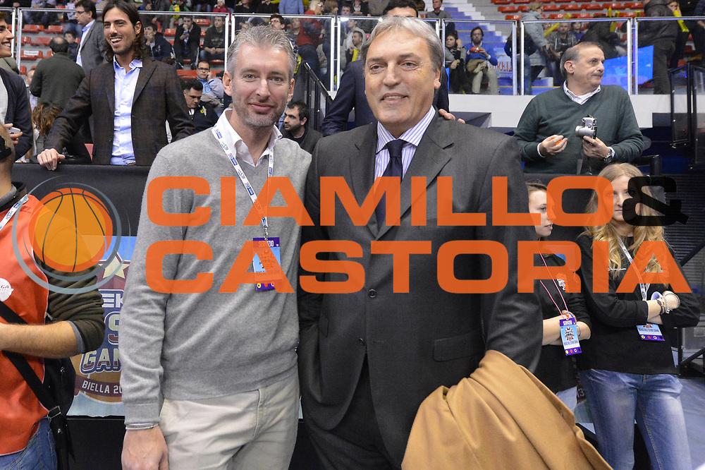 DESCRIZIONE : Biella Beko All Star Game 2012-13<br /> GIOCATORE : Riccardo Pittis Dino Meneghin<br /> CATEGORIA : pre game ritratto<br /> SQUADRA : Italia<br /> EVENTO : All Star Game 2012-13<br /> GARA : Italia All Star Team<br /> DATA : 16/12/2012 <br /> SPORT : Pallacanestro<br /> AUTORE : Agenzia Ciamillo-Castoria/GiulioCiamillo<br /> Galleria : FIP Nazionali 2012<br /> Fotonotizia : Biella Beko All Star Game 2012-13<br /> Predefinita :