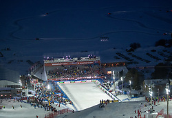 08.02.2019, Aare, SWE, FIS Weltmeisterschaften Ski Alpin, alpine Kombination, Slalom, Damen, im Bild Übersicht Zielstadion // overview Stadium during the Slalom competition of the ladie's alpine combination for the FIS Ski World Championships 2019. Aare, Sweden on 2019/02/08. EXPA Pictures © 2019, PhotoCredit: EXPA/ Johann Groder