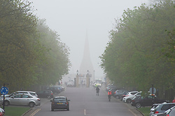 © Licensed to London News Pictures. 07/04/2019.<br /> Greenwich, UK. A foggy damp morning in London and the South East as people are out and about in Greenwich Park, Greenwich, London.  Photo credit: Grant Falvey/LNP