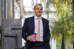 © Licensed to London News Pictures. 22/10/2019. London, UK. Foreign Secretary DOMINIC RAAB arrives in Downing Street to attend the weekly cabinet meeting. Photo credit: Dinendra Haria/LNP
