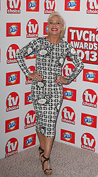 DENISE WELCH arriving at the TV Choice Awards in London, Monday, 9th September 2013. Picture by i-Images