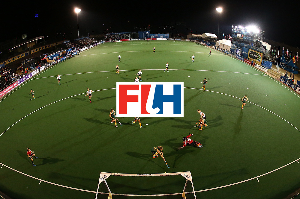 JOHANNESBURG, SOUTH AFRICA - JULY 18:  Camille Nobis of Germany scores the opening goal during day 6 of the FIH Hockey World League Women's Semi Finals quarter final match between Germany and South Africa at Wits Univesity on July 18, 2017 in Johannesburg, South Africa.  (Photo by Jan Kruger/Getty Images for FIH)