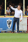 AFC Wimbledon manager Neal Ardley during the EFL Sky Bet League 1 match between AFC Wimbledon and Shrewsbury Town at the Cherry Red Records Stadium, Kingston, England on 24 September 2016. Photo by Stuart Butcher.