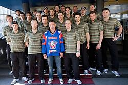 Dejan Zavec at meeting of Slovenian Ice-Hockey National team and boxer Dejan Zavec - Jan Zaveck alias Mister Simpatikus, on April 15, 2010, in Hotel Lev, Ljubljana, Slovenia.  (Photo by Vid Ponikvar / Sportida)