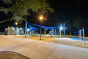 New playground at night