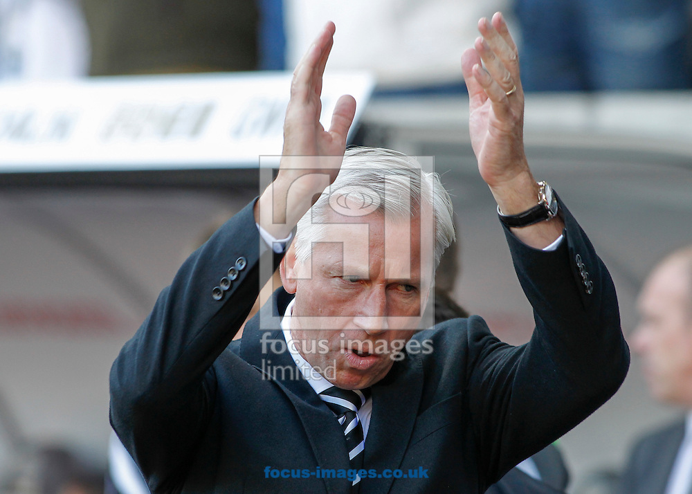 Alan Pardew, Manager of Newcastle United during the Barclays Premier League match at the Liberty Stadium, Swansea<br /> Picture by Mike  Griffiths/Focus Images Ltd +44 7766 223933<br /> 04/10/2014