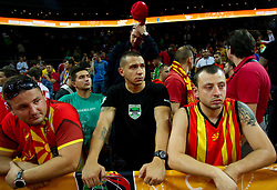 Supporters of Macedonia disappointed after the basketball game between National basketball teams of F.Y.R. of Macedonia and Russia of 3rd place game of FIBA Europe Eurobasket Lithuania 2011, on September 18, 2011, in Arena Zalgirio, Kaunas, Lithuania. Russia defeated Macedonia 72-68 and won bronze medal. (Photo by Vid Ponikvar / Sportida)