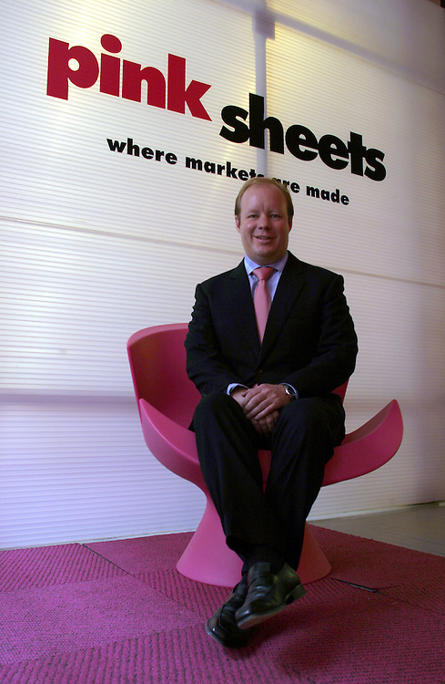 ..R.Cromwell Coulson chairman and CEO of Pink sheet, posed to the camera in Pink Sheet offices in Manhattan on Friday 13 April 2007 ......