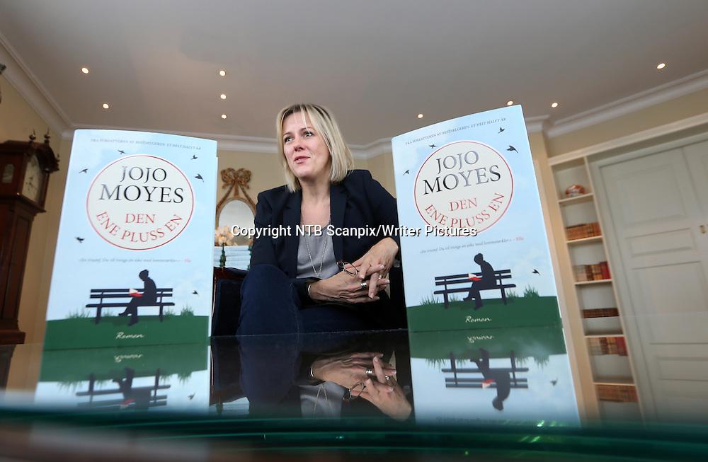 Oslo  20140911.<br /> Jojo Moyes med ny bok. &quot;Den ene pluss en&quot; <br /> Foto: Vidar Ruud / NTB scanpix<br /> <br /> NTB Scanpix/Writer Pictures<br /> <br /> WORLD RIGHTS, DIRECT SALES ONLY, NO AGENCY