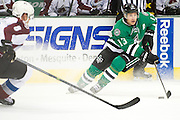 DALLAS, TX - SEPTEMBER 26:  Ray Whitney #13 of the Dallas Stars controls the puck against the Colorado Avalanche in an NHL preseason game on September 26, 2013 at the American Airlines Center in Dallas, Texas.  (Photo by Cooper Neill/Getty Images) *** Local Caption *** Ray Whitney