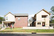 Photographed for the American Institute of Architect's (AIA) in 2017, to promote their #ILookUp Film Challenge Campaign. In Jackson, Mississippi, Duvall Decker Architects has been taking on projects in neglected corners of Jackson for years, striving to do work that improves the lives of people. Recently, they were approached by Mississippi NAACP President, Derrick Johnson, to develop a master plan with affordable housing for Midtown, a neighborhood of Jackson whose poverty line sits around 50 percent. This is a portrait of the changing face of Midtown since work began, and the community that is experiencing and catalyzing its revival.
