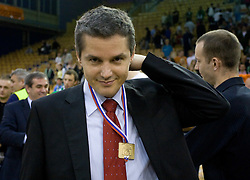 Assistant coach of Union Olimpija Zoran Martic at third finals basketball match of Slovenian Men UPC League between KK Union Olimpija and KK Helios Domzale, on June 2, 2009, in Arena Tivoli, Ljubljana, Slovenia. Union Olimpija won 69:58 and became Slovenian National Champion for the season 2008/2009. (Photo by Vid Ponikvar / Sportida)