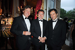 Left to right, DANNY MOYNIHAN, MATTHEW FREUD and DAVID HEYMAN at a dinner hosted by HRH Prince Robert of Luxembourg in celebration of the 75th anniversary of the acquisition of Chateau Haut-Brion by his great-grandfather Clarence Dillon held at Lancaster House, London on 10th June 2010.