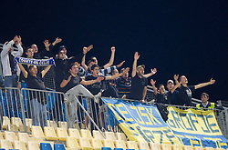 Celjski grofje, Fans of Celje during football match between NK Celje and ND Gorica in 13th Round of Slovenian First League PrvaLiga NZS 2012/31 on October 6, 2012 in Arena Petrol, Celje, Slovenia. (Photo By Vid Ponikvar / Sportida)