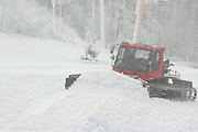 Snow making crew members work in a blizzard of natural and manmade snow as they work to get ready for 2008/09 ski season at Nubs Nob in Harbor Springs.  Both Nubs Nob and Boyna Highlands will be open for skiing this weekend.