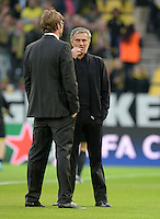 FUSSBALL  CHAMPIONS LEAGUE  HALBFINALE  HINSPIEL  2012/2013      Borussia Dortmund - Real Madrid              24.04.2013 Trainer Juergen Klopp (li, Borussia Dortmund) und Trainer Jose Mourinho (re, Real Madrid)