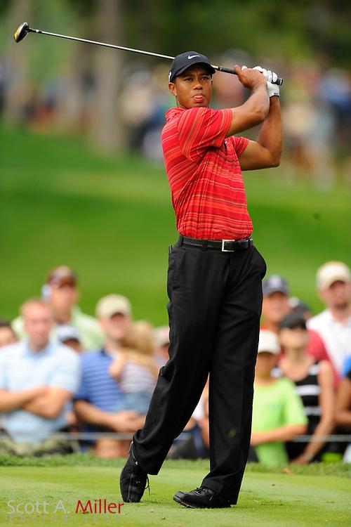Aug. 16, 2009: Chaska, MN, USA; Tiger Woods (USA) during the 2009 PGA Championship at Hazeltine National Golf Club.  ..©2009 Scott A. Miller