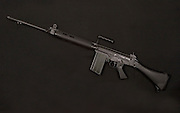 A L1A1 rifle used during Bloody Sunday in 1972 and now used in Sierra Leone by rebel forces.