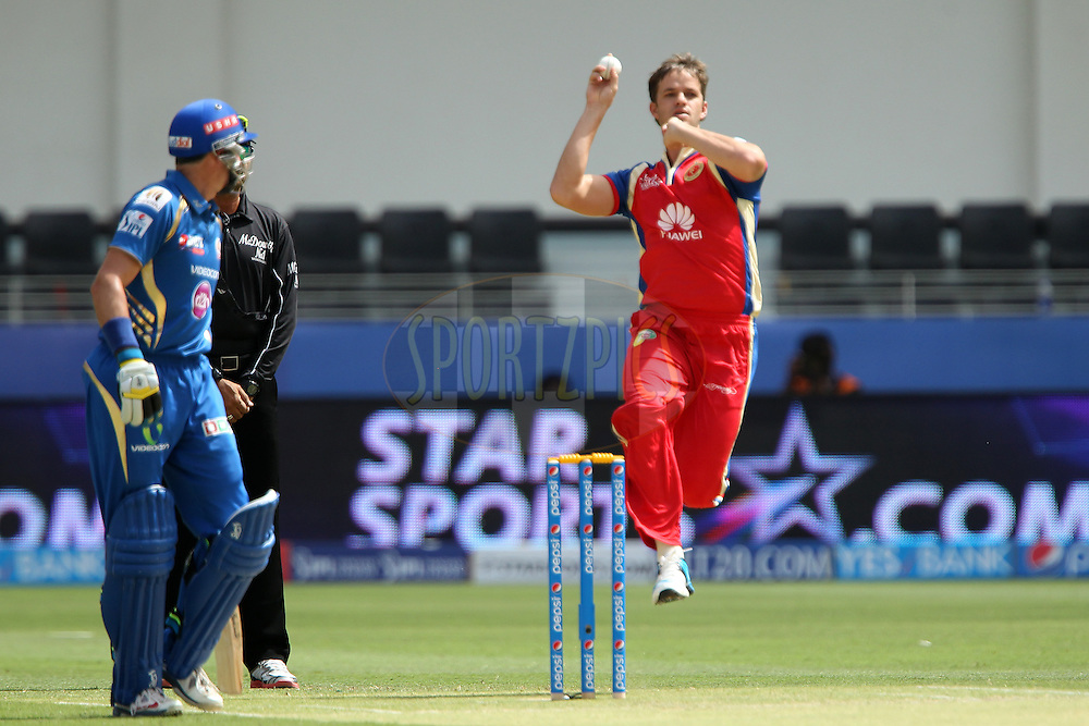 Albie Morkel during match 5 of the Pepsi Indian Premier League Season 7 between the Royal Challengers Bangalore and the Mumbai Indians held at the Dubai International Cricket Stadium, Dubai, United Arab Emirates on the 19th April 2014<br /> <br /> Photo by Ron Gaunt / IPL / SPORTZPICS