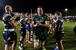 A dejected George Skivington of London Irish leaves the field after the match - Photo mandatory by-line: Patrick Khachfe/JMP - Mobile: 07966 386802 24/04/2015 - SPORT - RUGBY UNION - Bath - The Recreation Ground - Bath Rugby v London Irish - Aviva Premiership