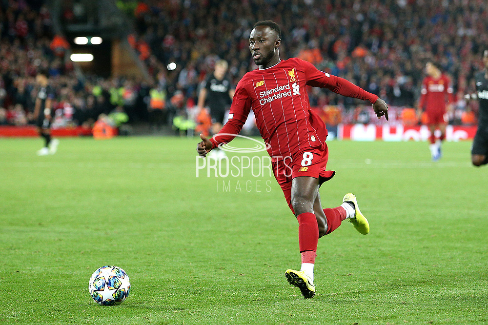 Liverpool midfielder Naby Keita (8) back in action after injury during the Champions League match between Liverpool and FC Red Bull at Anfield, Liverpool, England on 2 October 2019.