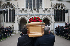 MAR 27 2014 Tony Benn Funeral at St Margarets Church