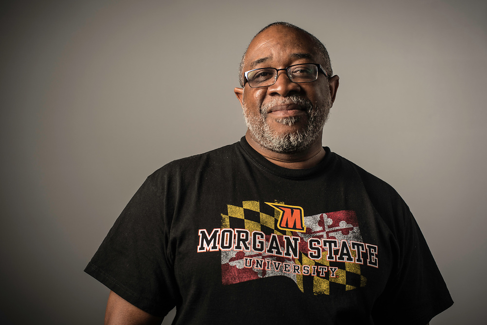 SPARKS, MD -- 4/29/17 -- Ed Parker, goalie.The 1975 Morgan State Bears Lacrosse team that caused one of the largest upsets in NCAA history when they defeated Washington and Lee University. Morgan State was the first HBCU to field a lacrosse team. Members of the historic team at an interview at the US Lacrosse Museum and Hall of Fame.…by André Chung #_AC16289