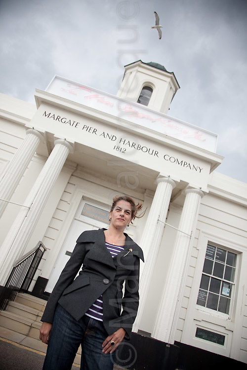 "© London News Pictures. 30/04/2010. Launch of ""I Never Stopped Loving You"" neon artwork mounted at the entrance to Droit House, Margate, Kent. Commissioned by Turner Contemporary. Tracy Emin is due to open the new £17m gallery Turner Contemporary on the 16th April 2011."