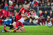 Willi Heinz of the Crusaders in action in the Super Rugby Qualifier game, Crusaders v Reds, at AMI Stadium, Christchurch, New Zealand, on the 20 July 2013. Photo:John Davidson/photosport.co.nz