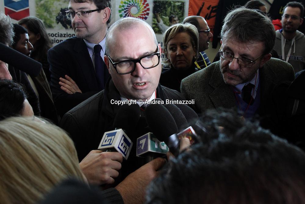 Riccione 25 Gennaio 2014 - 2&deg; Congresso Nazionale Sinistra Ecologia Liberta' - SEL.<br /> Stefano Bonaccini