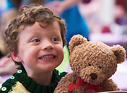 22/02/2014 Matt O Liodain Naonrai Scoil Iognaid  at the 10th annual Teddy Bear Hospital at NUI Galway will take place Thursday and Friday, 22 and 23 January. The event will see over 1,500 sick teddy bears admitted to the hospital, accompanied by their minders, 1,500 primary school children.<br /> <br /> The event is organised by the Sl&aacute;inte Society, the NUI Galway branch of the International Federation of Medical Students Associations, and up to 200 medical and science students will diagnose and treat the teddy bears. In the process, they hope to help children, ranging in age from 3-8 years, feel more comfortable around doctors and hospitals.. Photo:Andrew Downes