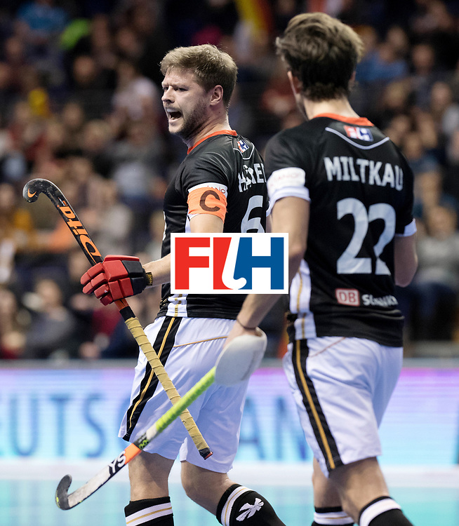 BERLIN - Indoor Hockey World Cup<br /> Men: Poland - Germany<br /> foto: Martin H&auml;ner.<br /> WORLDSPORTPICS COPYRIGHT FRANK UIJLENBROEK