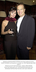 Ballerina MARGUERITE PORTER and her husband actor NICKY HENSON at a party in London on 18th September 2001.OSK 8