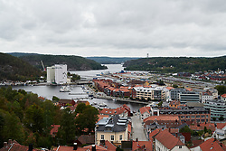Views over Halden from Fredriksten fortress at Ladies Tour of Norway Team Presentation 2018, in Halden, Norway on August 15, 2018. Photo by Sean Robinson/velofocus.com
