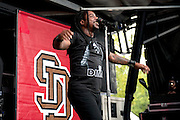 Sevendust performing at the Blossom Music Center in Cleveland, OH on the Uproar Tour on September 21, 2011