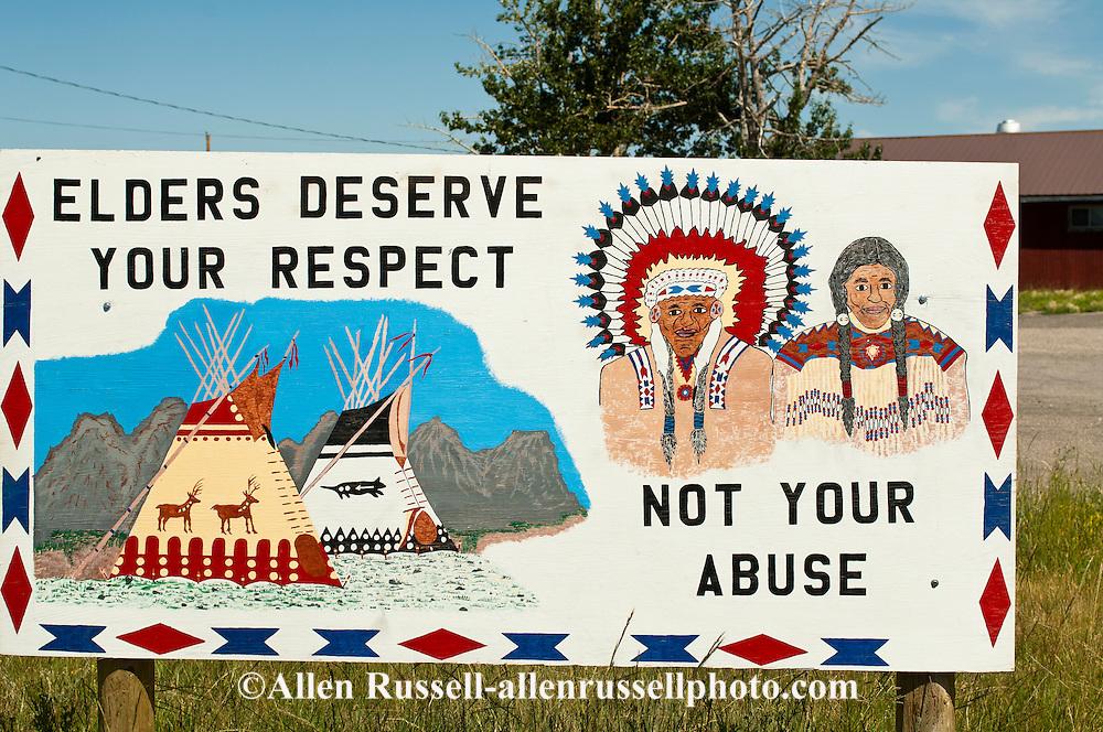 Blackfeet Indian Reservation, Montana, elder abuse