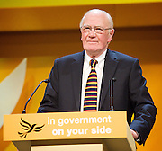 Liberal Democrats<br /> Autumn Conference 2011 <br /> at the ICC, Birmingham, Great Britain <br /> <br /> 17th to 21st September 2011 <br /> <br /> The Right Honourable<br /> Sir Menzies Campbell <br /> CBE QC MP<br /> <br /> ex  Leader of the Liberal Democrats<br /> <br /> Photograph by Elliott Franks