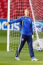 03.05.2011, Old Trafford, Manchester, ENG, UEFA CL, Halbfinale Rueckspiel, Manchester United (ENG) vs Schalke 04 (GER), Abschlusstraining, im Bild:  Manuel Neuer (Schalke #1)  // during the UEFA CL, Semi Final second leg, Manchester United (ENG) vs Schalke 04 (GER), at the Old Trafford, Manchester, Training, 03/05/2011 EXPA Pictures © 2011, PhotoCredit: EXPA/ nph/  Mueller *** Local Caption ***       ****** out of GER / SWE / CRO  / BEL ******