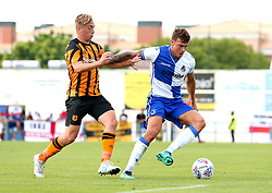 Tom Broadbent of Bristol Rovers takes on Jarrod Bowan of Hull City - Mandatory by-line: Robbie Stephenson/JMP - 18/07/2017 - FOOTBALL - Estadio da Nora - Albufeira,  - Hull City v Bristol Rovers - Pre-season friendly