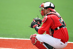 06 April 2013:  Catcher Mike Hollenbeck during an NCAA division 1 Missouri Valley Conference (MVC) Baseball game between the Missouri State Bears and the Illinois State Redbirds in Duffy Bass Field, Normal IL