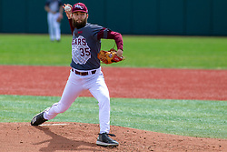 NORMAL, IL - April 08: Logan Wiley during a college baseball game between the ISU Redbirds  and the Missouri State Bears on April 08 2019 at Duffy Bass Field in Normal, IL. (Photo by Alan Look)