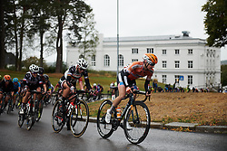 Megan Guarnier (USA) leads the second group with two laps to go at Ladies Tour of Norway 2018 Stage 2, a 127.7 km road race from Fredrikstad to Sarpsborg, Norway on August 18, 2018. Photo by Sean Robinson/velofocus.com