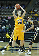 January 28, 2012: Iowa Hawkeyes forward Kelly Krei (20) looks to pass during the NCAA women's basketball game between the Purdue Boilermakers and the Iowa Hawkeyes at Carver-Hawkeye Arena in Iowa City, Iowa on Saturday, January 28, 2012.