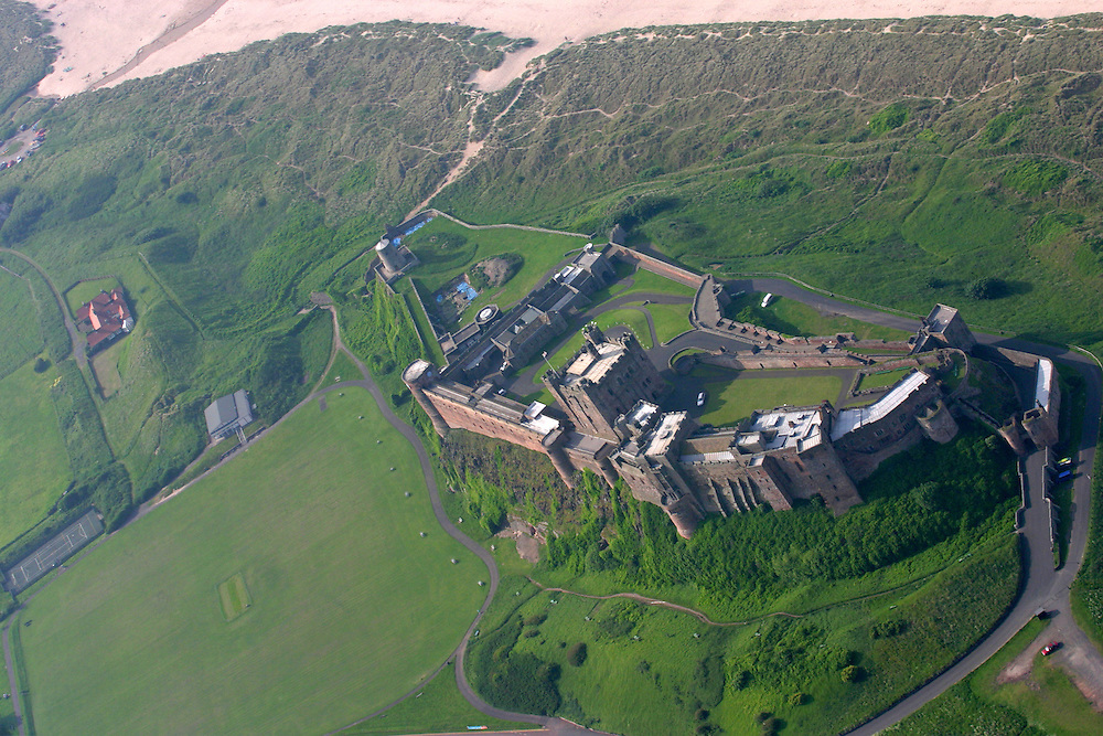 Aerial Shot of Bamburgh Castle, Northumbria